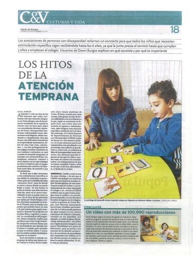 Servicio de atención temprana en diario de Burgos