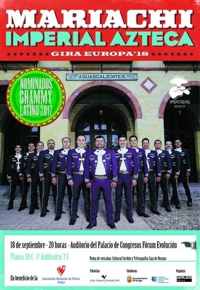 Cartel concierto Mariachi Imperial Azteca