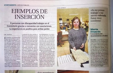 Marta en el Ayto de Burgos