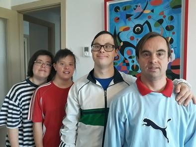 Juan,Andrés,Sara y Bea