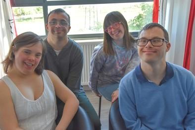 Alvar,Patricia,Marta y Andrés.