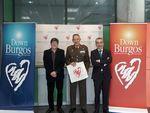 El comandante militar de Burgos,Soria y Cantabria visita el Centro Estela
